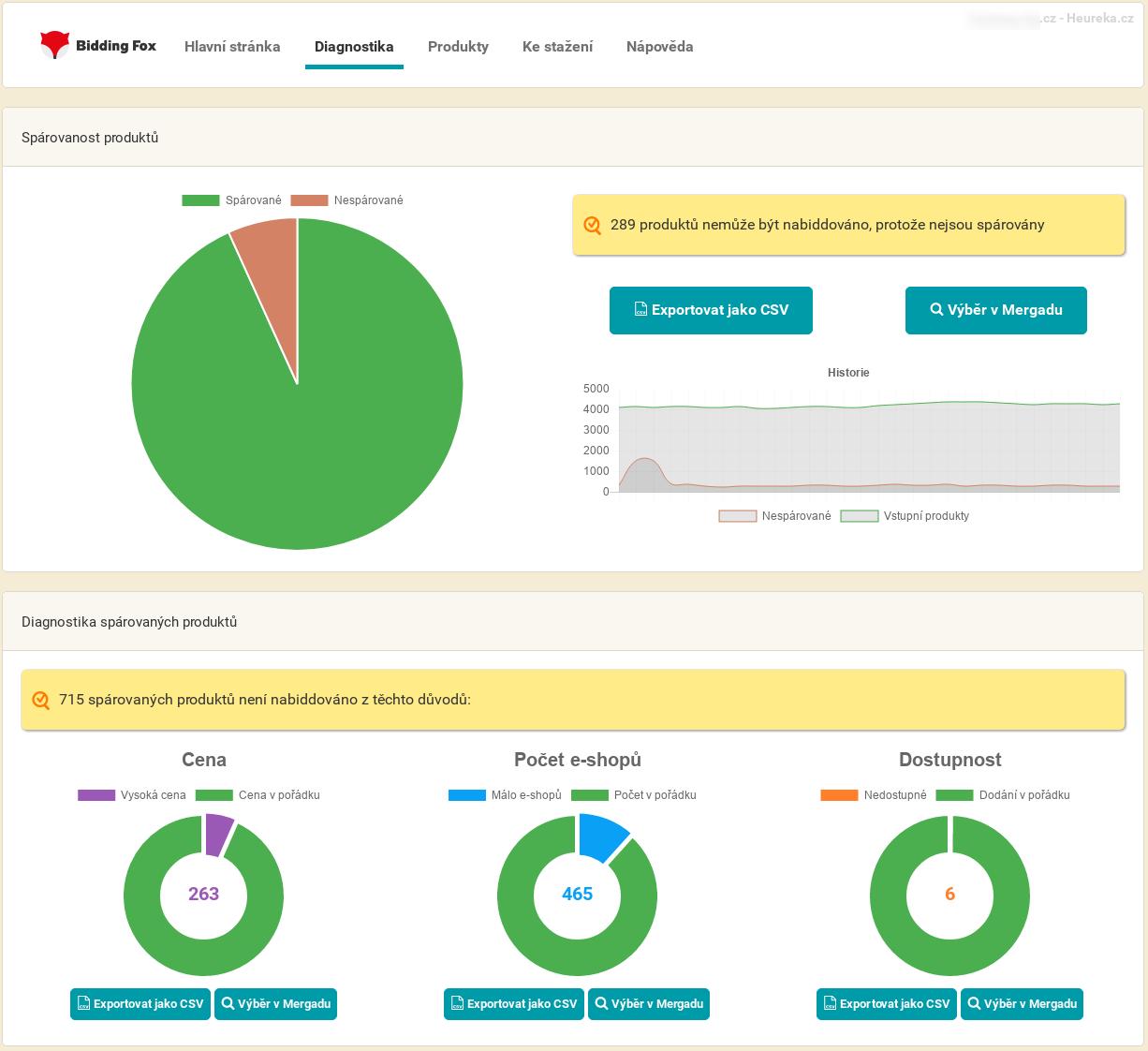 Náhledy aplikace. Hlavní stránka · Diagnostika · Produkty ... b2726e60f4