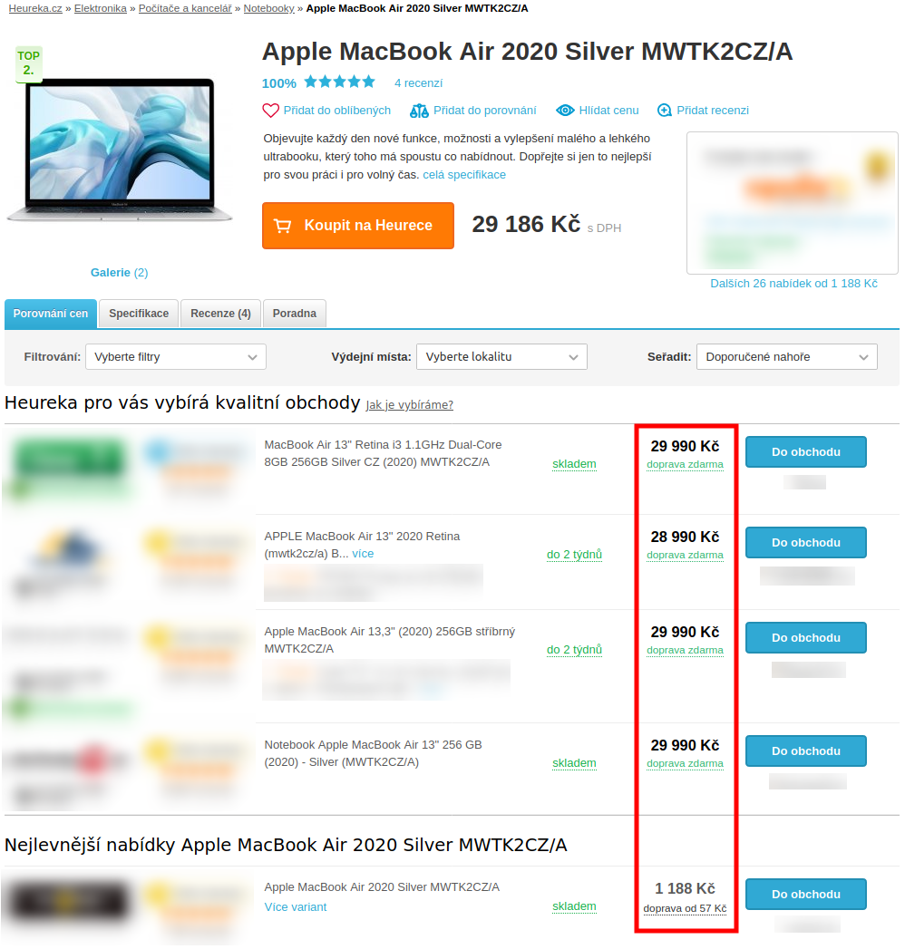 Produktová karta - Apple MacBook Air