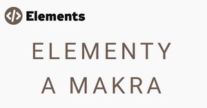 Elementy a makra